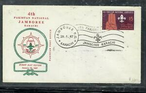 PAKISTAN COVER (P2507BB) 1967 BOY SCOUTS CACHETED UNADDRESSED FDC