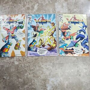 Voltron Defender of the Universe #1, #2, #3 (1985) Ungraded