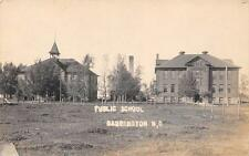 RPPC CARRINGTON ND Public School North Dakota Vintage Photo Postcard ca 1910s