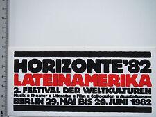 Aufkleber Sticker Horizonte 82 - Lateinamerika - Festival - Berlin (5368)