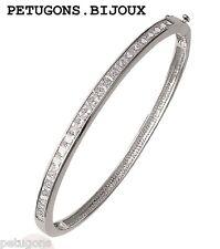 Bracelet jonc plumes 58mm argent massif925°°°,poinçonné/&garanti,CDE
