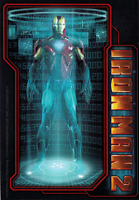 15885 Iron Man 2 Holographic Projection Superhero Marvel Comics Sticker / Decal