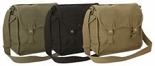 NEW VINTAGE STYLE LARGE COTTON CANVAS SIDE BAG SATCHEL SHOULDER BAG HAVERSACK