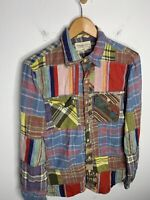 Ralph Lauren Medium Slim Shirt Aztec Indian Hunting RRL Patchwork Polo Small VTG