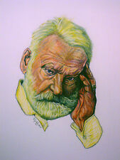 C1 DESSIN Couleurs VICTOR HUGO Jullian GRAND FORMAT 50 X 65 cm