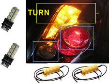 3157 3057 4157 High Power Amber LED Turn Signal Lights Bulbs + 2 Resistors
