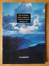 DAEWOO ORIG 1994 marché britannique brochure d'entreprise - NEXIA ESPERO n ° 1 VOITURE CONCEPT