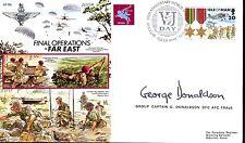AF19Bc Airborne Forces Gurkha Fast East RAF cover signed Gp Capt Donaldson DFC