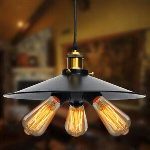 3 Head Vintage Industrial Hanging Ceiling Lamp Pendant Light Holder   F