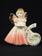 Josef Originals Six / 6 Birthday Angel Girl Figurine - Sticker