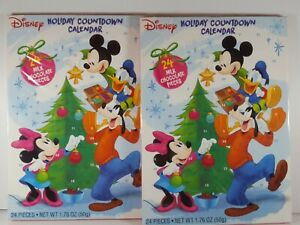 2 Mickey & Friends Christmas Holiday Countdown Advent Calendar With 24 Chocolate