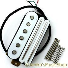Guitarra Eléctrica Blanco Caliente Riel humbucker + Grifo de bobina de recogida de bobina única Doble Nuevo