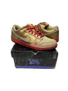 Nike Dunk Low Pro SB Money Cat 2006 Gold 304292-771 Size 8.5