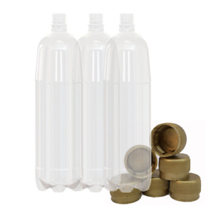 1500ml Plastic Bottles Screw Caps, 676 Pack beer & cider takeaway & homebrew