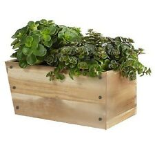NIB - Ikea BJURON Slant Rect. Wood/Wooden Planter Box w/ Metal Tray #000.795.93