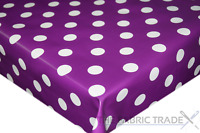 Polka Dot Spots Dotty Wipe Clean PVC Tablecloth Kitchen Dining Oilcloth Vinyl