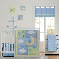 Wish I May Baby Crib Bedding Set 4-Piece for Nursery Decor Cotton Quilted