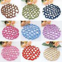 Diamante Bun Hair Net Handmade Crochet Mesh Fabric Snood Ballet Cover Dance P5P6