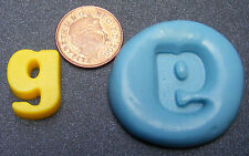 """Reusable Letter """"G"""" Silicone Food Safe Mould, Mold, Sugarcraft, Jewellery, Cake"""