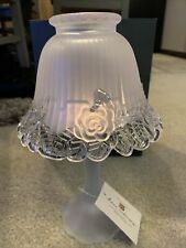 Home Interiors Glass Scalloped Candle Holder New With Tag