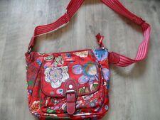 OILILY schöne kleine Handtasche Umhngetasche rot Blumenmuster NEUw. RC817