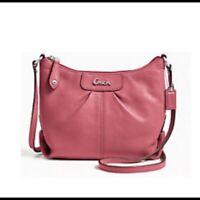 NWT Coach Ashley Crossbody leather purse GInger beet F46872