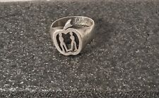 STERLING SILVER RING MENS VINTAGE UNIQUE AND VERY RARE DESIGN