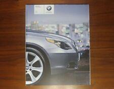 BMW 5 SERIES BROCHURE 2005 E60 525i 530i 545i SEDAN SALOON COLLECTIBLE