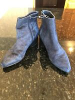 Urban Outfitters Women's Calf Hair Pola Chelsea Boots Navy Size 9 $98