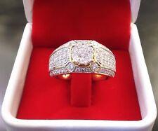 Gorgeous 14K Yellow Gold Filled White Sapphire Ring Men Women's Jewelry Sz 5-14