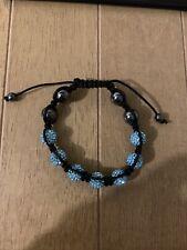 But Very Good Condition Light Blue Shamballa Bracelet Used