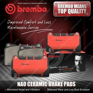 4pcs Rear Brembo NAO Ceramic Brake Pads for Chrysler 300 LX LE 300C BR4 2004-On