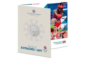The Official Team GB UK 50p Coin of the Tokyo 2020 Olympic Games Royal mint