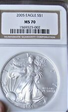 2005 Silver Eagle Dollar  NGC- MS70