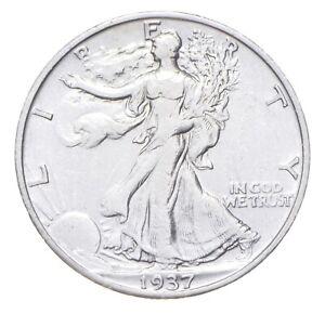 AU/Unc - 1937-S Walking Liberty Silver Half Dollar - Better *312