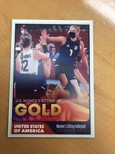 USA Women's Sitting Volleyball 2020 Paralympic Olympics Gold Medal Trading Card