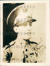 1939 Major Jaime Marine of Cuba  Press Photo