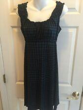 Access Size Medium Sleeveless Black N Blue Dress Soft, Knee Length