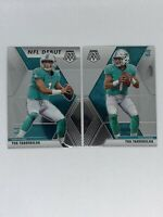 2020 Panini Mosaic Tua Tagovailoa Base & NFL Debut - Lot of 2 - Dolphins