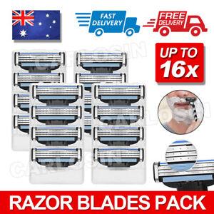 3 Blades For Men Gillette MACH 3 Razor Shaving Shaver Trimmer Refills Cartridges