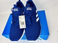 Adidas Mens Running Shoes Lite Racer CLN, Dark Blue/White B96566 Size 11.5