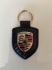 Porte clés Porsche cuir Carbone Neuf ENVOIE SUIVIE FRANCE 🇫🇷