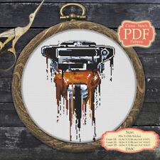 Bounty Hunter Princess Leia - Cross stitch PDF Pattern Embroidery Hoop Art #054