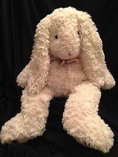 "Caltoy Cream Beige Large Easter Bunny Rabbit Plush Stuffed Animal 21"" Rare"