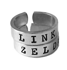 Link and Zelda Ring Set - Triforce -Best Friends - Couples Ring Set BFF Gift