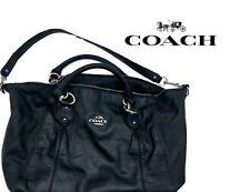 COACH Madison Sophia Leather Black Satchel/Shoulder Bag