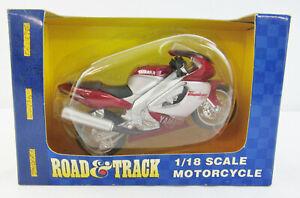 New 2003 Maisto Road & Track 1/18 1997 YAMAHA YZF 1000 THUNDERACE Maroon Silver