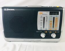 Emerson RP6250 AM/FM/TV Sound Instant Weather Band Radio Clock- Tested