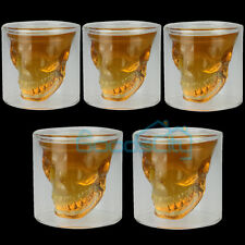 5X Crystal Skull Head Vodka Shot Whiskey Home Wine Beer Tea Glass Drinking Cup