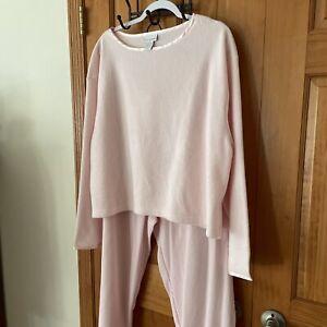 Soft Surroundings  Pink Pajama Set Lounge Wear Size PTXL